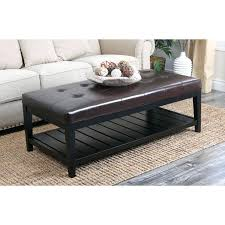 Top Grain Leather Sectional Sofas Leather Top Coffee Table Ottoman Laughingredhead Me