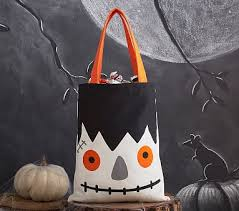 monster canvas treat tote bag pottery barn kids