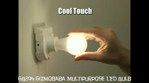 cool touch light bulbs gb294 gizmobaba multipurpose led light bulb gadget youtube