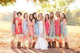 Dress For Backyard Wedding by Simple Tips For Mismatched Bridesmaids Dresses
