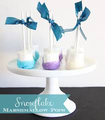 frozen chocolate snowflake marshmallow pops amft