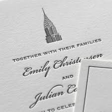 wedding invitations nyc cities sesame letterpress design