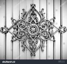 ornamental on metal background stock photo 42383728