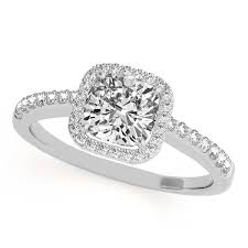 gold cushion cut engagement rings cushion cut diamond halo engagement ringaccents 14k w gold 0 50ct
