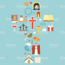 moses jesus and christian icon arrange in cross shape for passover