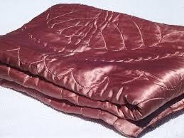 Wool Filled Duvet Regency Vintage Quilted Satin Comforter Warm Wool Filled Duvet