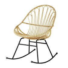 fauteuil en corde fauteuil à bascule en rotin pétunia maisons du monde