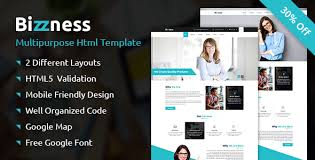 bizzness business and corporate html template by dbwebart