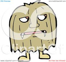 Cartoon Halloween Monsters Fantasy Cartoon Of A Brown Hairy Halloween Monster Royalty Free
