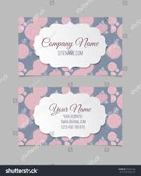 floral business card template stock vector 331802126 shutterstock