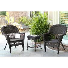 Patio Chair Cushion by Santa Maria Espresso Wicker Chair And End Table Set Without Cushion