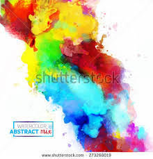 vector abstract watercolor palette mix colors stock vector
