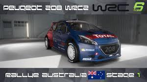 peugeot aust wrc 6 ps4 peugeot 208 wrc2 rally australia stage 1 youtube