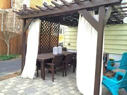 outdoor sunbrella curtains 108 privacy and decor pergola cabana