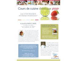 cours cuisine dietetique affiche cours de cuisine diététique avec le dr arnaud cocaul imd