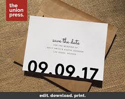 Design Business Cards Print At Home Printable Save Date Etsy