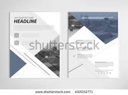annual report template design book cover stock vector 402052813