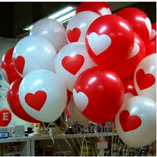 Seeking Balloon 12 2 8 G 100 Made White Of Hearts Helium Balloons