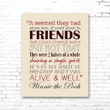winnie pooh printable friendship quote artwork red
