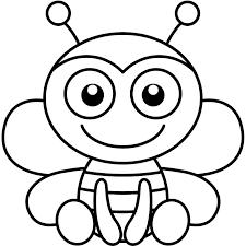 coloriage abeille facile a imprimer gratuit
