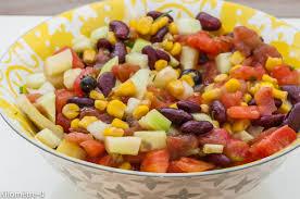 comment cuisiner des haricots rouges salade de tomates concombre haricots rouges et maïs kilometre 0 fr