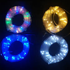 Solar Led Lights For Outdoors 12m 100leds Solar Led String Lights Outdoor 4 Colors Rope Led