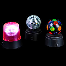 disco lights for home set of 3 small battery operated disco