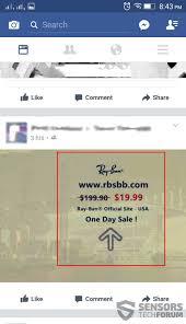 remove rayban facebook virus scam update july 2017