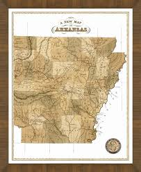 map of arkansas map of arkansas a great framed map that s ready to hang