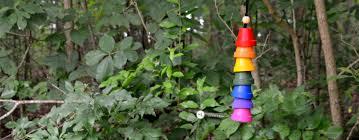 drip paint flower pots terra cotta toad house kids craft