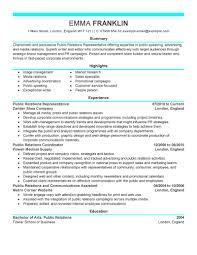 Advertising Resume Public Relations Sample Resume Gallery Creawizard Com