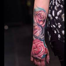 three red roses water drops tattoo tattoo tattooed tattoos