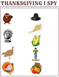 thanksgiving printable counting activity search and i for