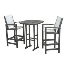 patio bar furniture sets trex outdoor furniture surf city textured silver 3 piece patio bar