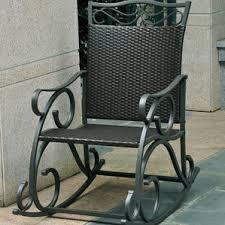 Metal Patio Rocking Chairs Outdoor Patio Rocking Chair Wayfair