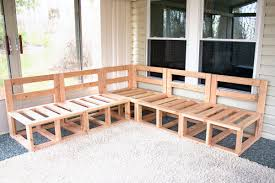 Free Indoor Wooden Bench Plans by Outdoor Sectional Framing Diy Project Deck Tutorials Pinterest