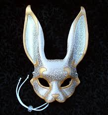 bunny mask venetian rabbit mask v4 handmade leather rabbit mask 140 00