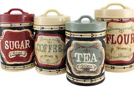 kitchen ceramic canister sets 4 country store kitchen ceramic canister set country