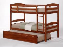 Cosmos Oak Stained King Single Bunk Beds  Trundle - King single bunk beds
