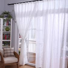 Sheer Panel Curtains Sheer Drapes And Curtains With Delicate Flower Patterns Are