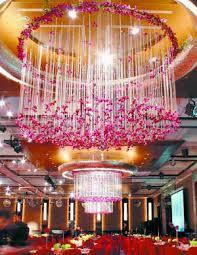 Streamer Chandelier Wedding Flower Chandelier Floral Chandeliers Flower Chandeliers