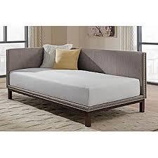 dorel mid century linen upholstered modern daybed multiple colors