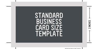 how big are standard business cards business card template size