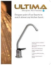 Air Gap Reverse Osmosis Faucet Brushed Nickel by Ultima Reverse Osmosis Sales Service Install Ctr Plumbing 480