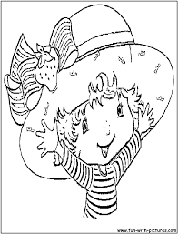 strawberry shortcake coloring pages free printable colouring