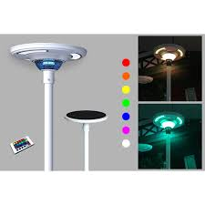 Round Solar Lights by Eleding 360 White Ufo Round Solar Powered Outdoor Rgb Integrated