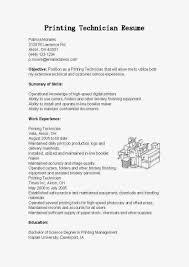 Tech Resume Sample Printer Technician Resume Examples Desktop Support Technician