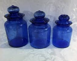 kitchen canisters blue cobalt blue canister etsy