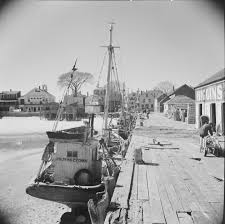 provincetown fishing boats pier side 1944 capecod history