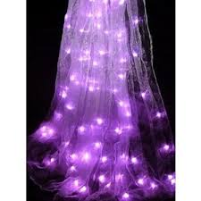 beaded curtain with lights decorate the house with beautiful